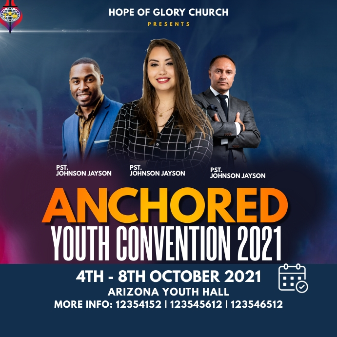 Youth Conference Instagram na Post template