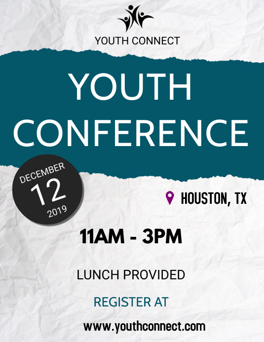 Youth Conference Pamflet (Letter AS) template