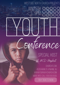 Youth Conference Event Flyers A4 template