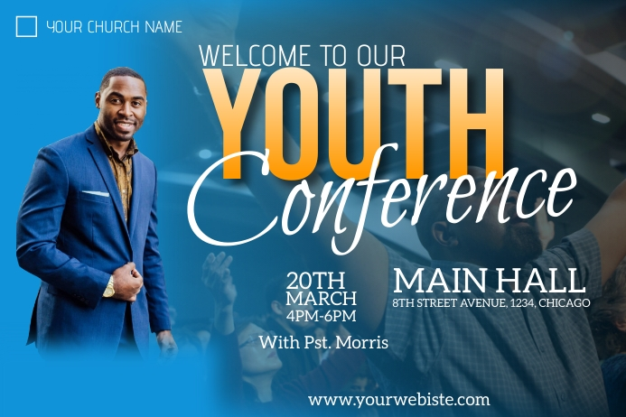 youth conference flyer Poster template
