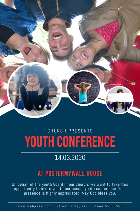 Church Youth Center Designs: Youth Conference Flyer Template