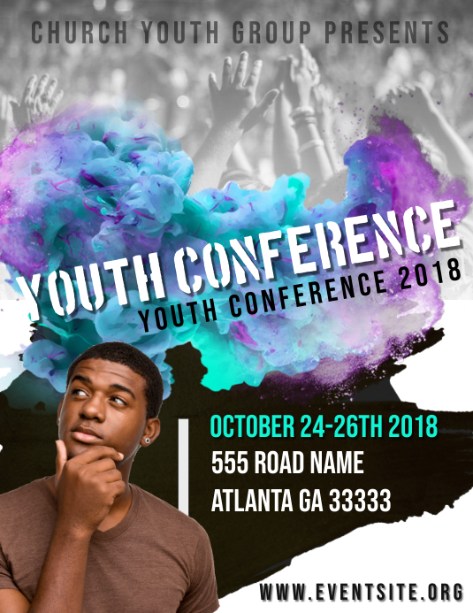 Youth Conferences Pamflet (Letter AS) template