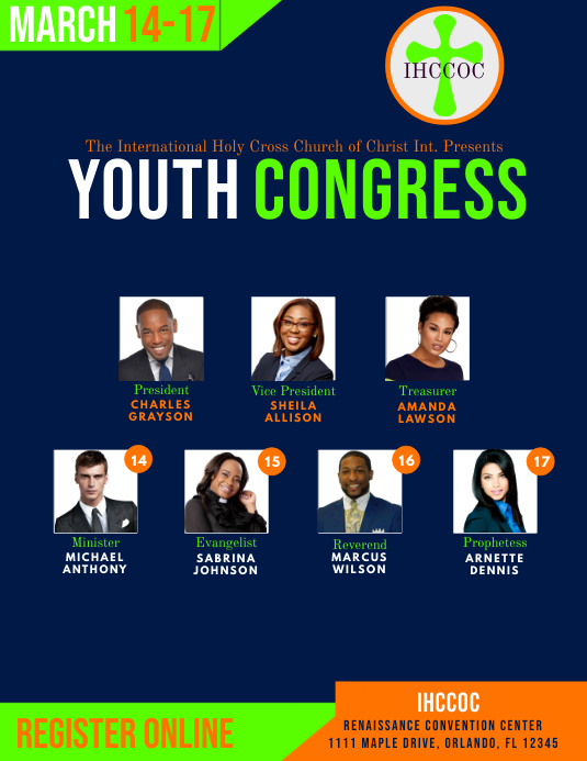 Youth congress template postermywall maxwellsz