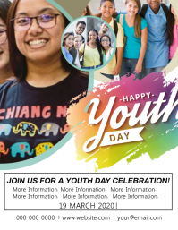 Youth Day Celebration Event Flyer Template
