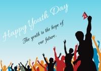 Youth day ไปรษณียบัตร template