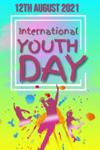 Youth Day Poster template