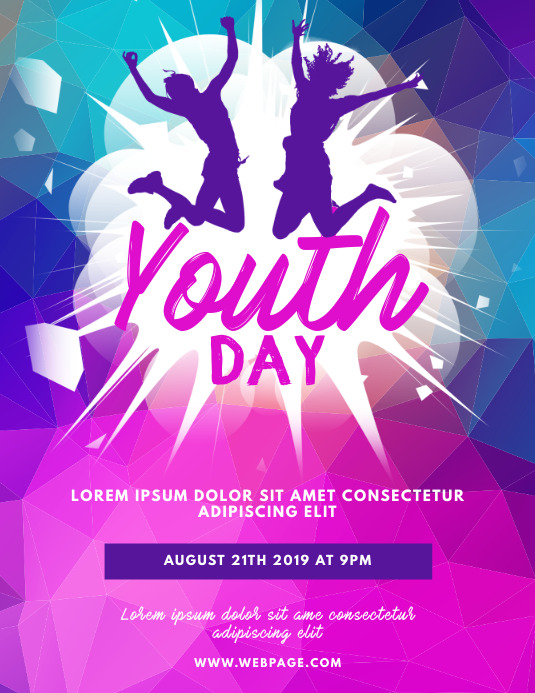Youth Day Flyer Design Template