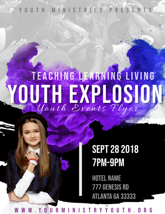 Youth Event Flyer (US Letter) template