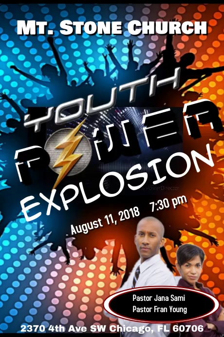 youth explosion template