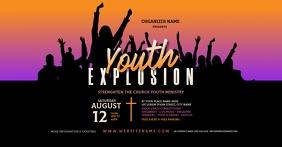 Youth Explosion Facebook Shared Image Isithombe Esabiwe ku-Facebook template