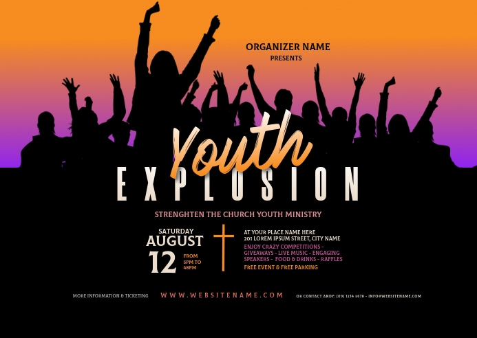 Youth Explosion Postcsrd Carte postale template