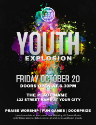 Youth Explossion Church Flyer template