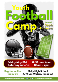 Youth Football Camp Flyer A4 template