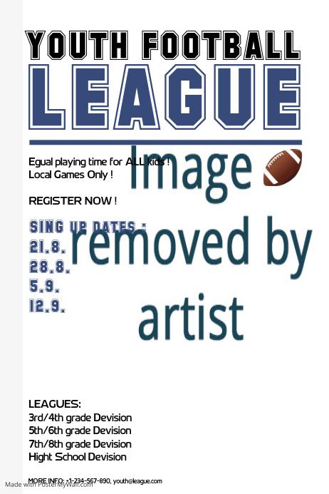youth football league template