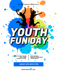 Youth Fun Day Flyer Design Template