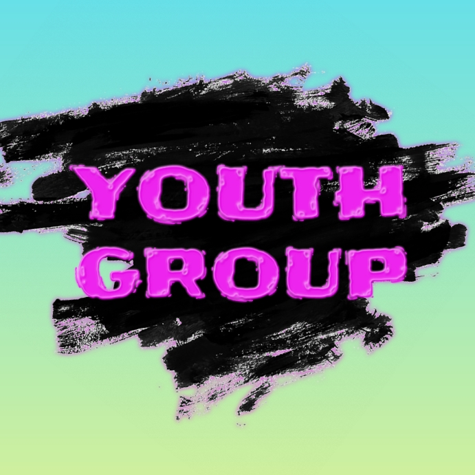 K. Youth Group Flyer Pos Instagram template