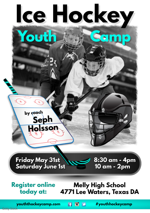 Youth Hockey Camp Flyer
