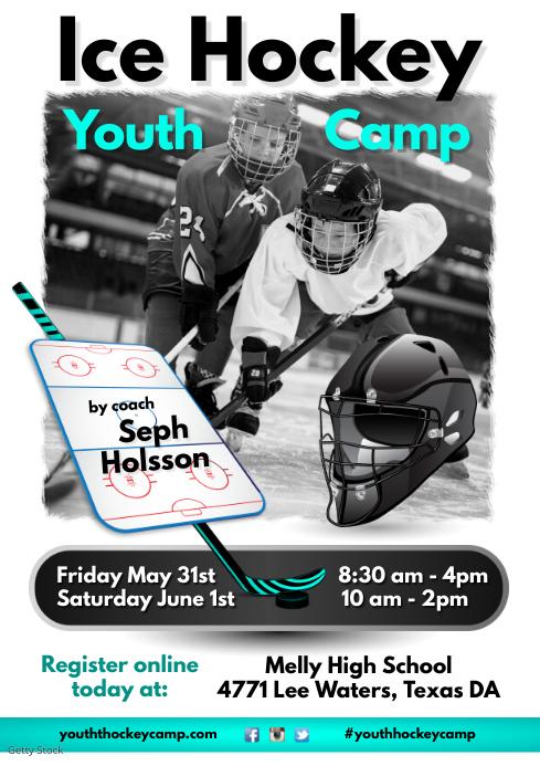 Youth Hockey Camp Flyer