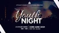 youth night church flyer งานแสดงผลงานแบบดิจิทัล (16:9) template