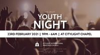 YOUTH NIGHT CHURCH flyer Pantalla Digital (16:9) template