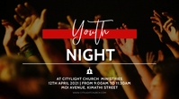 youth night church flyer Affichage numérique (16:9) template