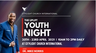 YOUTH NIGHT church flyer Digitalanzeige (16:9) template