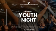 YOUTH NIGHT CHURCH flyer Ekran reklamowy (16:9) template