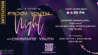 YOUTH NIGHT CONCERT SERVICE นามบัตร template