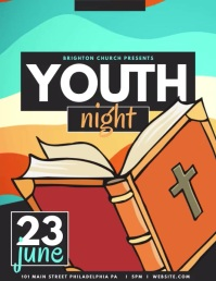 Youth night Flyer (US Letter) template