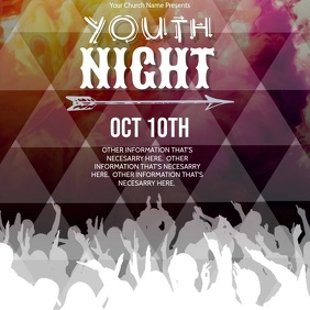 Youth Night Event Video Flyer Template