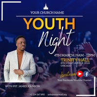 youth night flyer Wpis na Instagrama template
