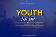 youth night flyer Affiche template