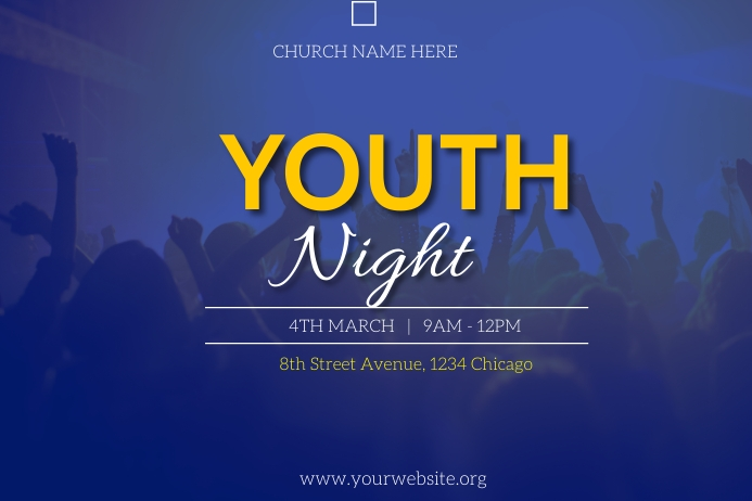 youth night flyer Póster template