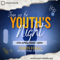 youth night flyer Instagram Post template