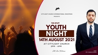 YOUTH NIGHT flyer Digitalanzeige (16:9) template