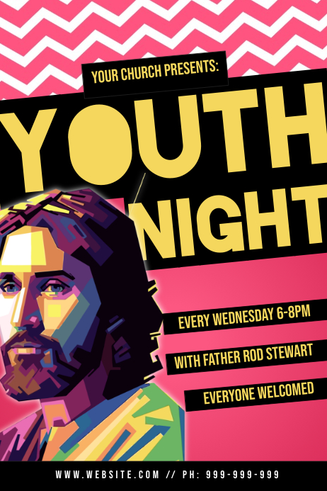 Youth Night Poster template
