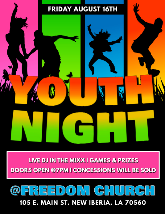 YOUTH NIGHT TEMPLATE Pamflet (Letter AS)