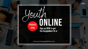 Youth online small group Digital Display (16:9) template