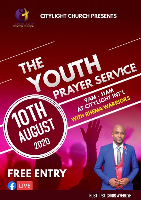 youth prayer service A3 template
