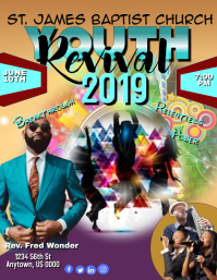 Youth Revival 2019 Flyer (US Letter) template