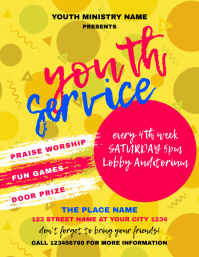 Youth Service Church Event Flyer