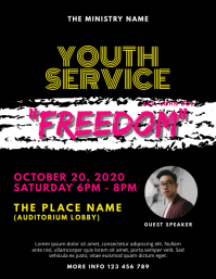 Youth Service Church Event Flyer Template