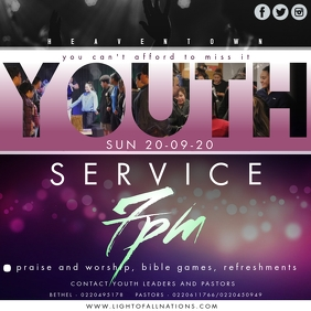 Youth Service Instagram-bericht template