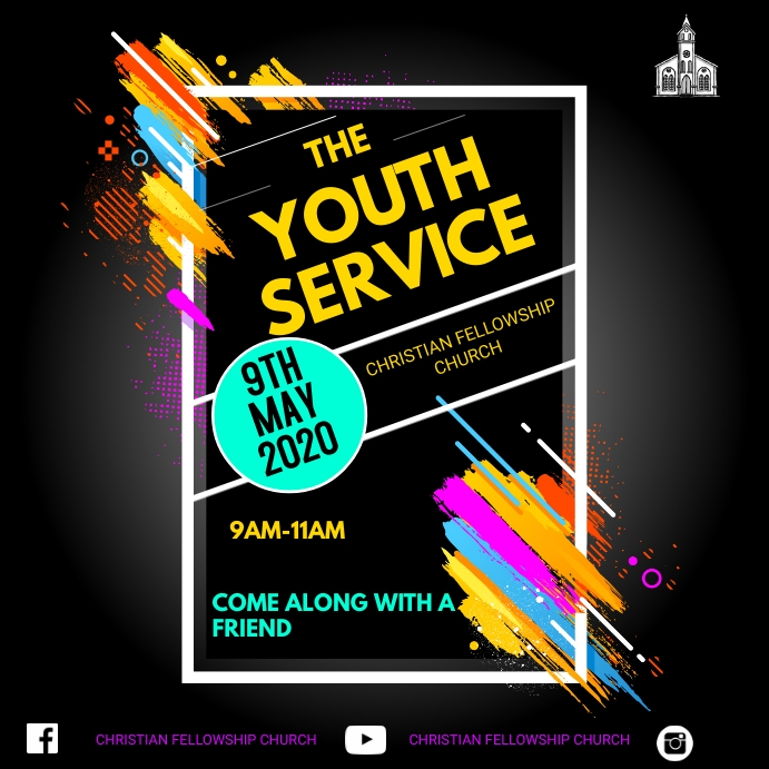 YOUTH SERVICE Publicación de Instagram template