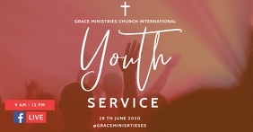YOUTH SERVICE Facebook Shared Image template