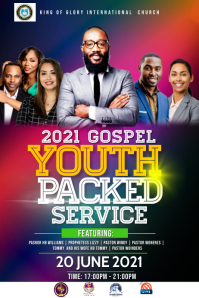 YOUTH SERVICE Poster template