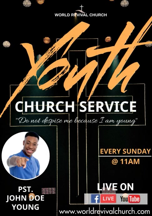 Youth service A3 template