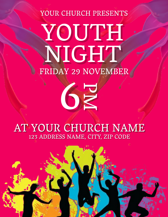 Youth Service Event Flyer Template