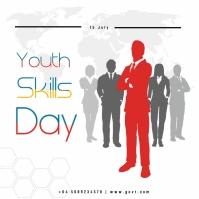 youth skills day Publicación de Instagram template