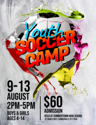 1 290 customizable design templates for soccer camp postermywall